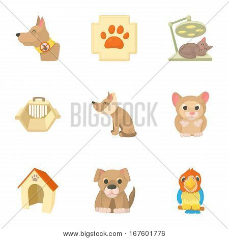 Treatment of animals icons set. Cartoon illustration of 9 treatment of animals vector icons for web