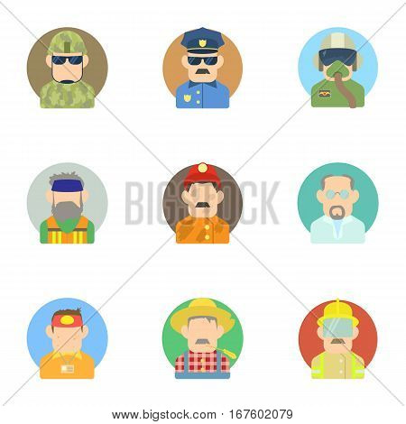 Specialty icons set. Flat illustration of 9 specialty vector icons for web