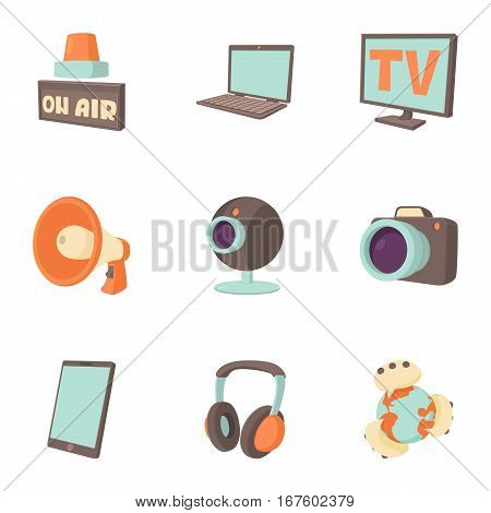 Tidings icons set. Cartoon illustration of 9 tidings vector icons for web