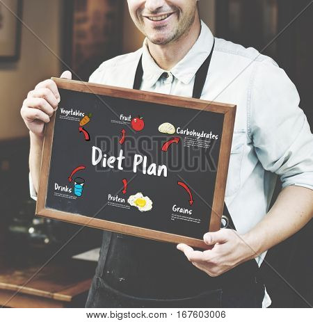Healthy Eating Food Diagram Concept