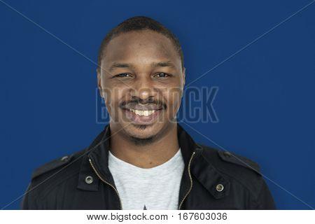 African Man Smiling Happiness Studio Portrait