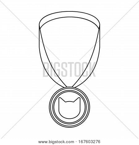 Cat medal icon of vector illustration for web and mobile design - stock vector