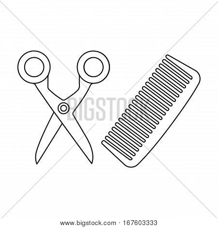 Hairdresser icon of vector illustration for web and mobile design - stock vector