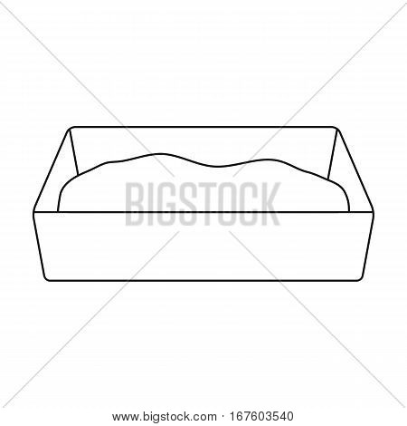 Litter box icon of vector illustration for web and mobile design - stock vector
