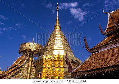 Wat Phra That Doi Suthep, Paogoda in Chiangmai Thailand