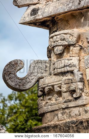Mask Of Chac, The Ancient Mayan God Of Rain And Lightning.
