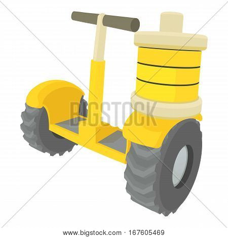 Segway battery icon. Cartoon illustration of segway battery vector icon for web