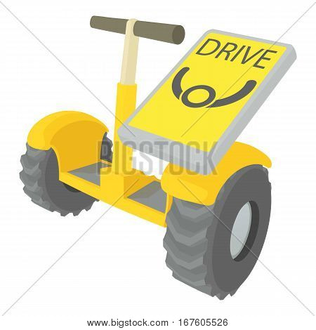 Drive on segway icon. Cartoon illustration of drive on segway vector icon for web