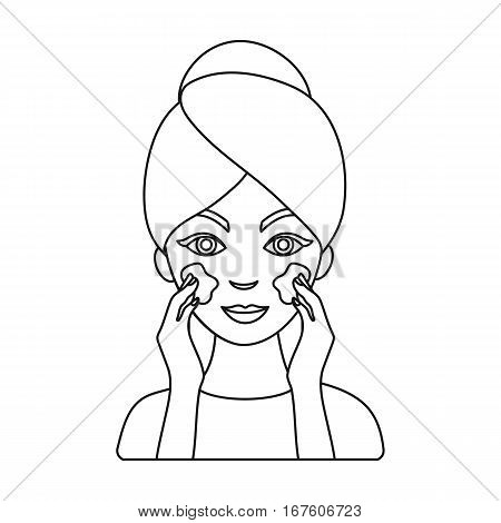 Face care icon in outline style isolated on white background. Skin care symbol vector illustration. - stock vector