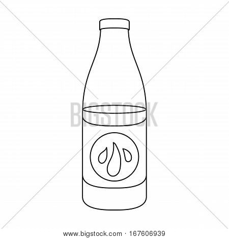 Lotion icon in outline style isolated on white background. Skin care symbol vector illustration. - stock vector