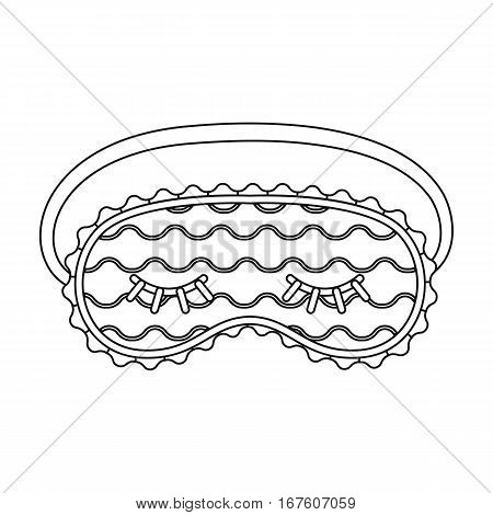 Blindfolds icon in outline design isolated on white background. Sleep and rest symbol stock vector illustration. - stock vector