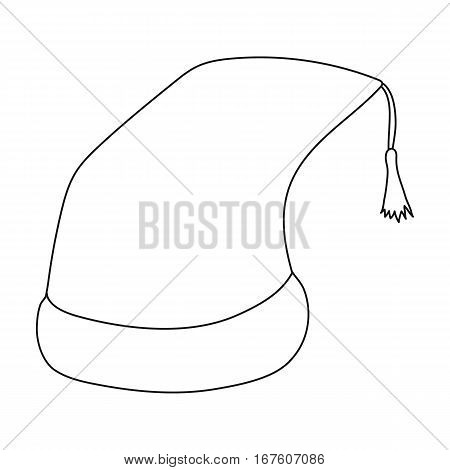 Nightcap icon in outline design isolated on white background. Sleep and rest symbol stock vector illustration. - stock vector
