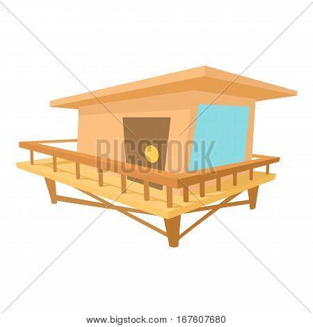 Stilt house icon. Cartoon illustration of stilt house vector icon for web