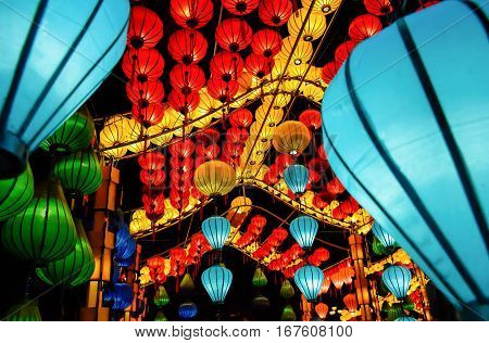 chinese new year, chinese lamp in festival