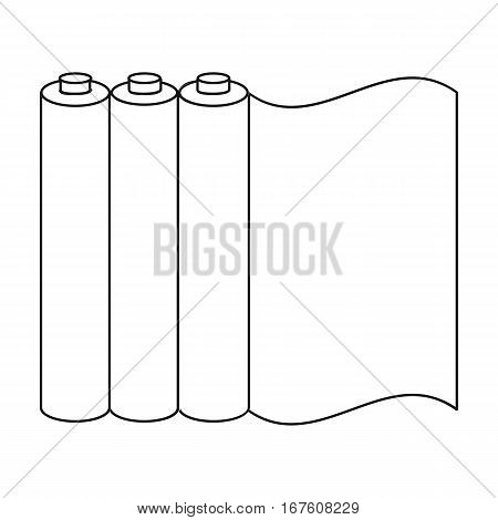 Color printing paper in outline style isolated on white background. Typography symbol vector illustration. - stock vector