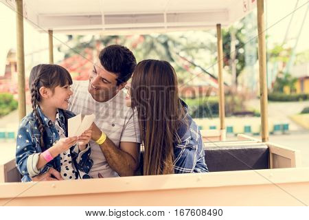 Family Holiday Vacation Park Ride Tourist