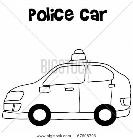 Police car vector art illustration collection stock