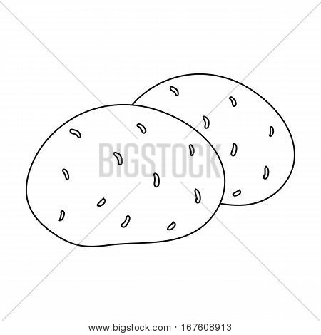Potato icon outline. Singe vegetables icon from the eco food outline. - stock vector