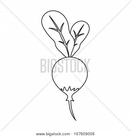 Radish icon outline. Singe vegetables icon from the eco food outline. - stock vector