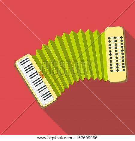 Accordion icon. Flat illustration of accordion vector icon for web design