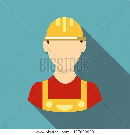 Builder icon. Flat illustration of builder vector icon for web design