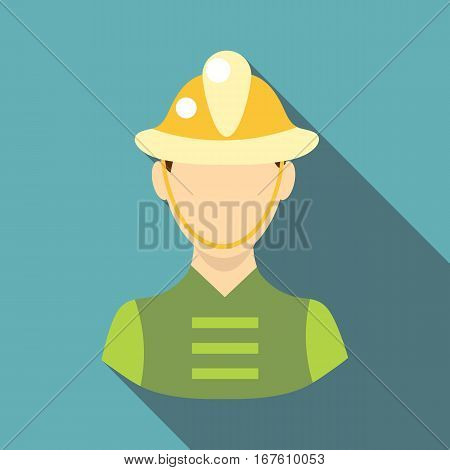 Firefighter icon. Flat illustration of firefighter vector icon for web design