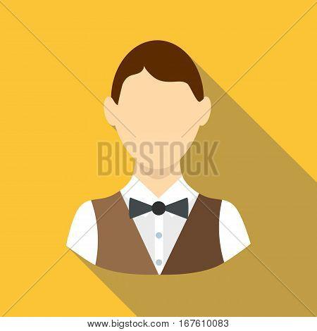 Croupier icon. Flat illustration of croupier vector icon for web design