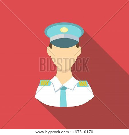 Pilot icon. Flat illustration of pilot vector icon for web design