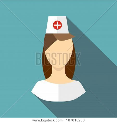 Nurse icon. Flat illustration of nurse vector icon for web design