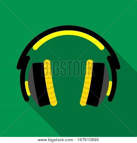 Headphones icon. Flat illustration of headphones vector icon for web design