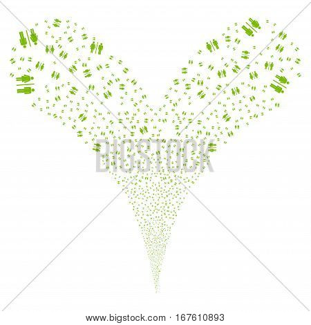 Toilet fireworks stream. Vector illustration style is flat eco green iconic symbols on a white background. Object double fountain combined from random pictograms.