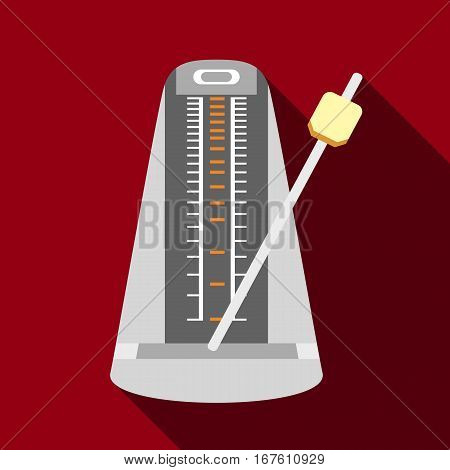 Metronome icon. Flat illustration of metronome vector icon for web design
