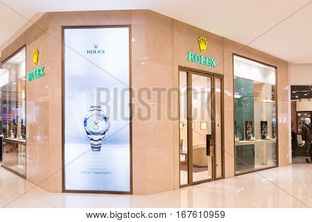 Kuala Lumpur, Malaysia -  January 29, 2017: Rolex Sa With Its Outlet In Kuala Lumpur, Retail And Ser