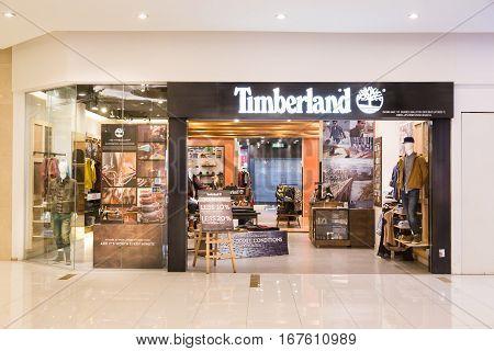 Kuala Lumpur, Malaysia -  January 29, 2017: Timberland Llc  Retailer Of Outdoors Wear With Store In