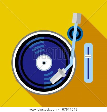 Record player phonograph icon. Flat illustration of record player phonograph vector icon for web design
