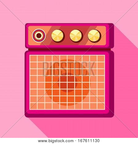 Sound speaker icon. Flat illustration of sound speaker vector icon for web design