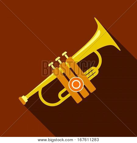 Trumpet icon. Flat illustration of trumpet vector icon for web design