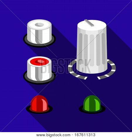 Volume buttons icon. Flat illustration of volume buttons vector icon for web design