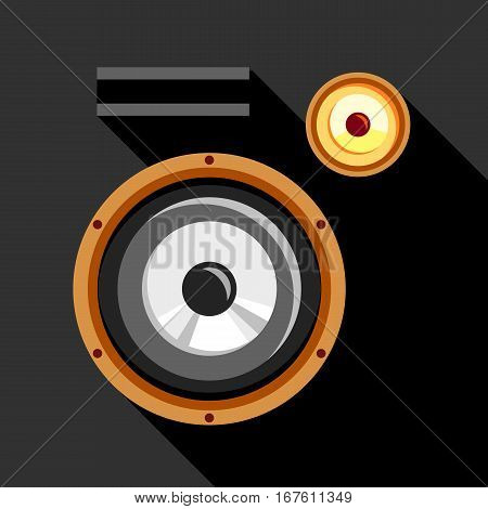 Audio speaker icon. Flat illustration of audio speaker vector icon for web design