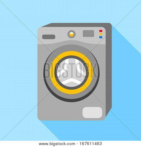 Washing machine icon. Flat illustration of washing machine vector icon for web design