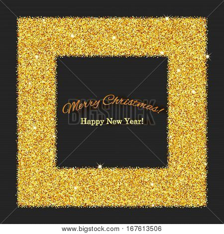 Brilliant sparkling background with frame and space for text
