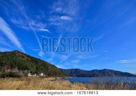 Landscape Of Kawaguchiko Township In Japan