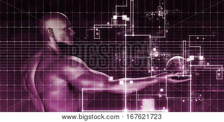 Multimedia Marketing with Cross Platform Technologies Art 3D Illustration Render