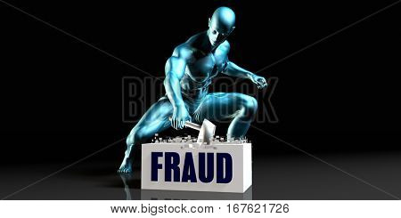 Get Rid of Fraud and Remove the Problem 3D Illustration Render