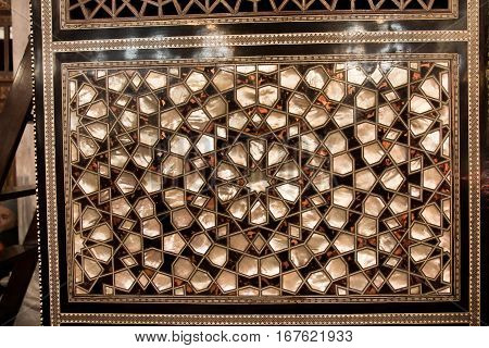 Ottoman Art Example Of Mother Of Pearl Inlays From Istanbul Turkey
