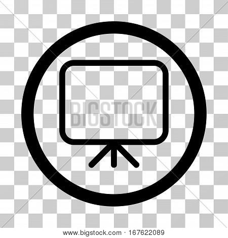 Presentation Screen rounded icon. Vector illustration style is flat iconic symbol inside a circle black color transparent background. Designed for web and software interfaces.