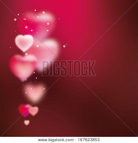 Background With Hearts For Valentine's Day.