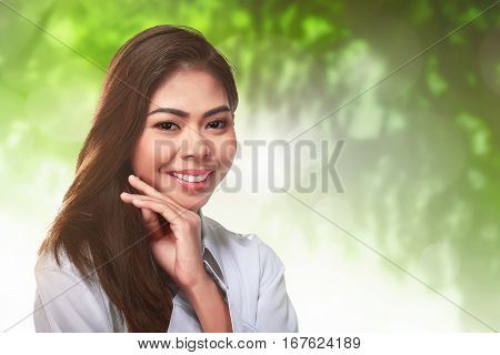 Close Up Of Young Asian Woman With Perfect Makeup