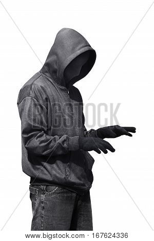 Hacker Typing Something While Standing