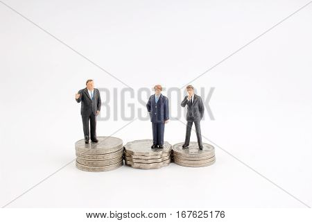 The Business Man Figure Planning